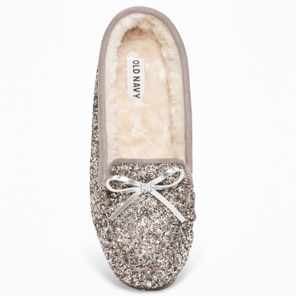 Old Navy Shoes | Faux Furlined Glitter